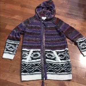 Hinge Nordstrom long Zip cardigan sweater plus 0